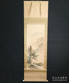 8172:日本回流 :山水图挂轴(回流字画.回流老画.回流真迹)