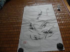 武进黄元生国画一张:清趣(43X74)CM【永久包真】