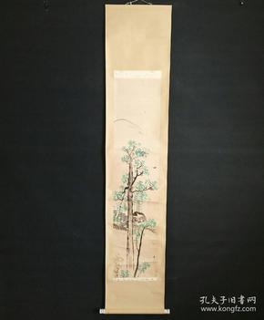 8182:日本回流 :国画图挂轴(回流字画.回流老画.回流真迹)
