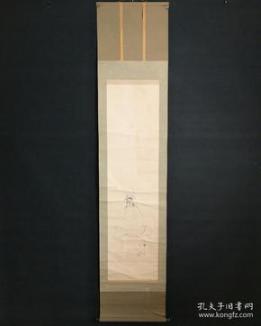 8197:日本回流 :观音图挂轴(回流字画.回流老画.回流真迹)