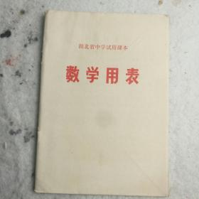 1973年《湖北省高中试用课本~数学用表》