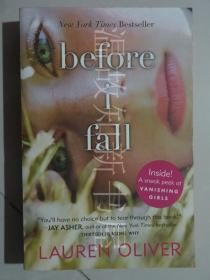 Before I Fall  (正版现货)