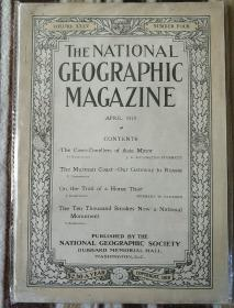 National Geographic April 1919 国家地理杂志 1919年4月号 原版进口 品佳包邮