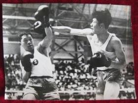 老照片   拳击 上海  广州 拳击选手    照片长20厘米宽15厘米    B箱——9号袋