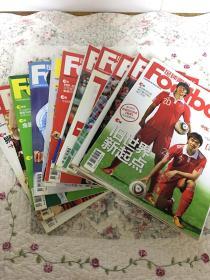足球周刊(2011、455.460.463.466.467.473.477.480.481.485.499)共11期合售+2011年画报一张