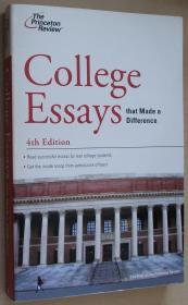 英文原版书 College Essays that Made a Difference, 4th Edition (College Admissions Guides) Princeton Review