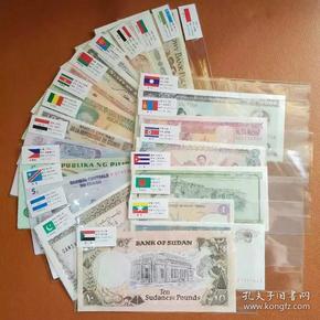 真品外国纸币20国家20张进博会