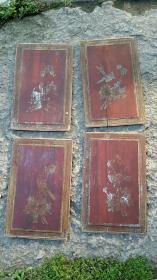 上世纪产物,花鸟画四片,37.5×23.5厘米