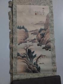 【溪山秋色.一九八零年元月写于津金海 手绘:王金海】