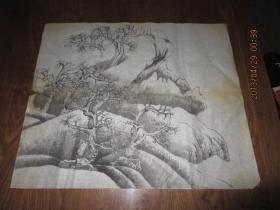 国画作品         《老树》未题款名,自然旧,可以做假卖大钱。      存于b纸箱248