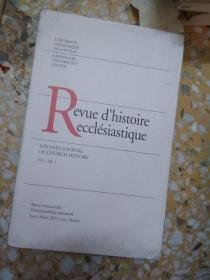 Revue dhistoire ecclésiastique VOL. 106 .1