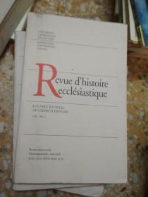 Revue dhistoire ecclésiastique VOL. 105 . 2