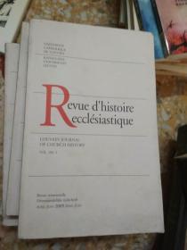 Revue dhistoire ecclésiastique VOL. 104 . 2