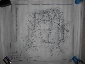 南京政府时期镇江地区公路图 手绘
