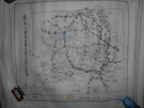 镇江地区解放战争时期公路示意图 手绘