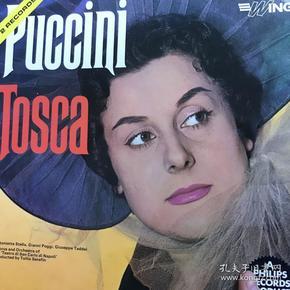 黑胶唱片2lp歌剧《托斯卡》意大利女高音stella