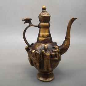 古玩杂项收藏仿古八仙酒壶八仙壶工艺品摆件特价促销