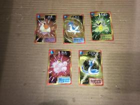 大大泡泡糖  神奇宝贝卡38张和售 闪光卡 每张卡的右下角都有神奇宝贝字样隐形闪光字体 还有两张小鬼当家