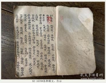 清代二手手抄本-各种碟文,告示#只售原件-N-BZ-1670