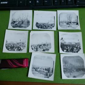 老照片8张合售到年了我们去赶集