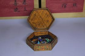 清代紫水晶朝珠盒摆件,盒子尺寸19*21.5*7.5厘米,珠子1.5厘米,细节图如下