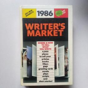 原版英法德意等外文书 1986WRITERS MARKET Deimling Writers Digest Books