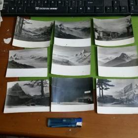 老照片9张合售舞台道具