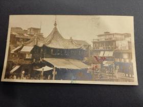 民国上海豫园城隍庙调棕照片,拍摄清晰度佳,哑光绒面相纸