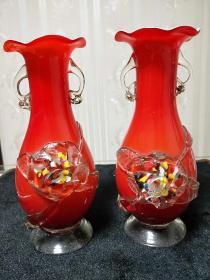 琉璃花瓶【红色堆花琉璃瓶】介绍根据图片商品描述所写,详细看图!仅代表个人观点,不表示任何承诺