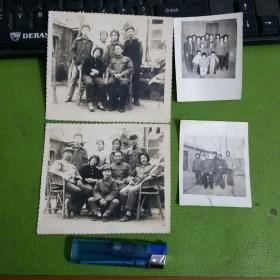 老照片4张合售幸福一家人