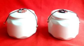 著名台湾  精美茶米生陶瓷茶罐     一对