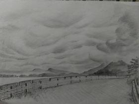 家门囗的风景;紫金山