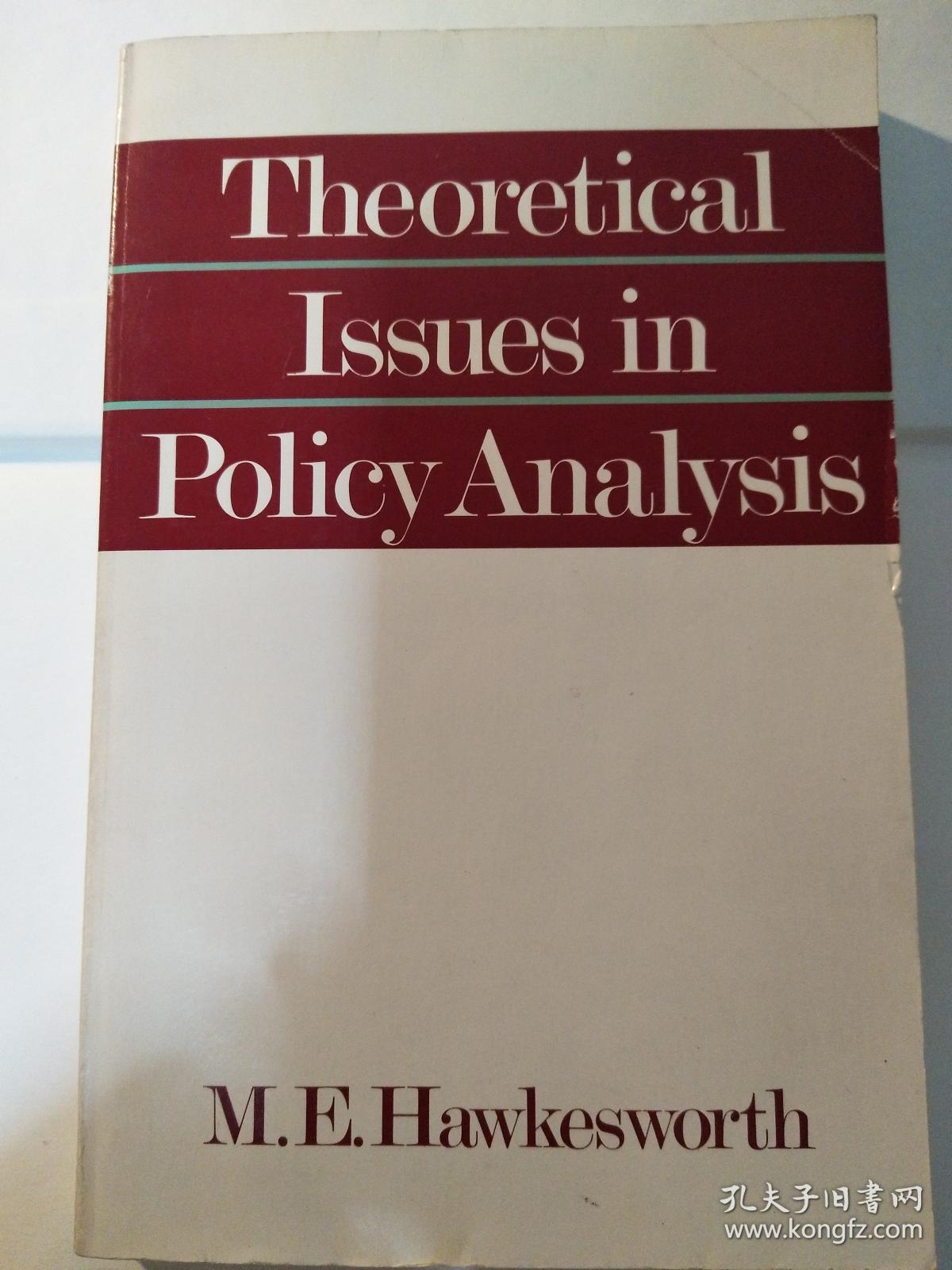 Theoretical Issues in Policy Analysis