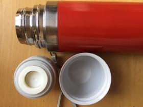 子弹头保温杯不锈钢真空儿童保温水壶男女水杯学生便携杯子  红色(企业定制)