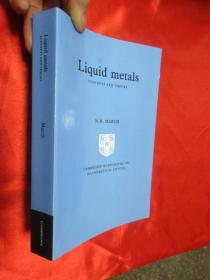 Liquid Metals: Concepts and Theory 【详见图】