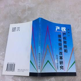 产权 产权效用和国有经济改革研究