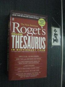 英文原版 The New American Rogets College Thesaurus In Dictionary Form