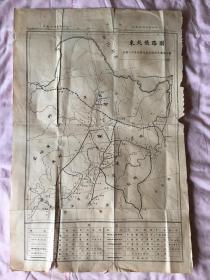 《东北铁路图》民国二十年