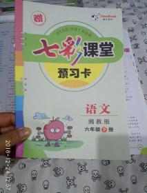 七彩课堂 语文 六年级 下册 湘教版 赠预习卡
