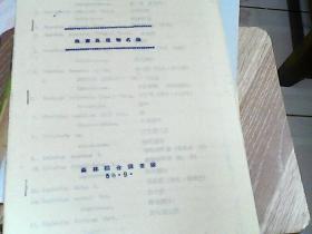 海南岛植物名录(油印本)