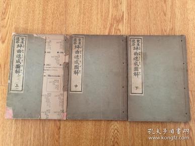 1936年和刻《家屋建筑 坪曲速成图解》三册全,日本古代木工建筑全图本