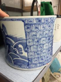 清代青花笔筒