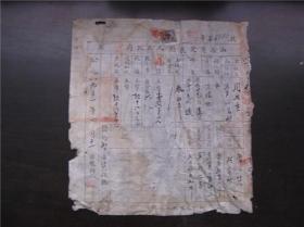 1951年山西省定襄县人民政府买契,贴1949年伍拾圆印花税票1张