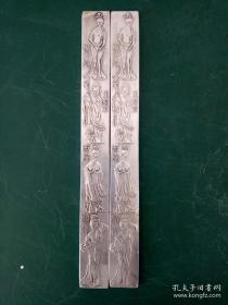 纯铜镇尺·镇纸·精美雕刻四大美女·书房用品·摆件