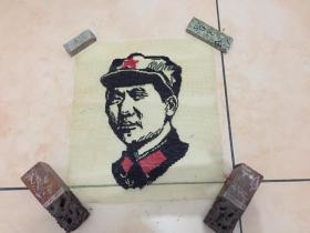 保真!文革主席 纱窗绣(尺寸:32.5厘米X28.5厘米)
