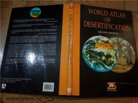 原版外文英文地图 World Atlas of Desertification second Edition Nick middleton DAVid thomas世界荒漠化地图集 八开硬精装