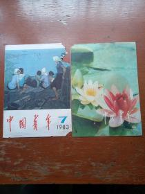 中国青年1970年第8期、1983年第7期封面