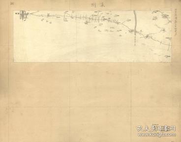 《涿州老地图》《涿州地图》清末涿州,涿州老地图比较少见,本图为西方测绘,测绘方法较先进。不知道图中涿州城内外的三个庙宇现在如何。原图现藏**,原图高清复制。