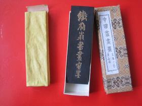 日本回流,铁斋翁书画宝墨上海墨厂80年代中期书画油烟101老墨2两1锭