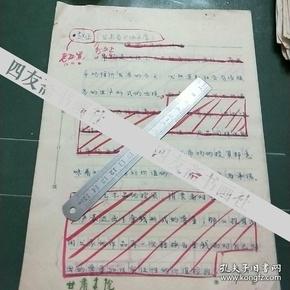 已故甘肃省书协主席赵正手稿《观念、市场、价值》5页(保真)